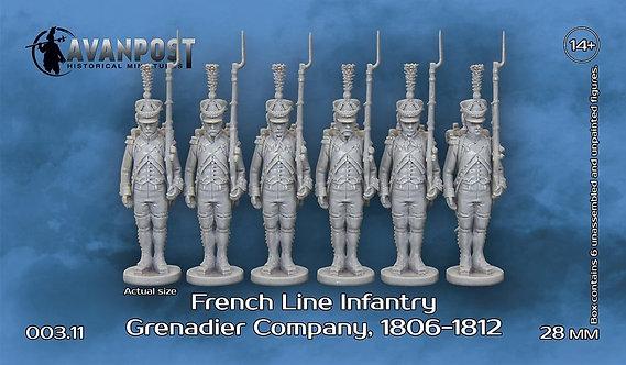 003 French Line Infantry Grenadier Company 1806-1812