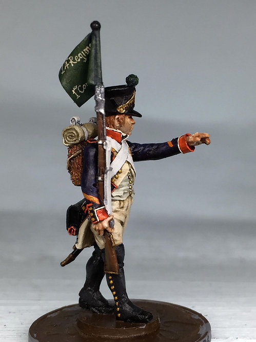 11.096-M Line Infantry Fusilier Sergeant with Fanion Marching