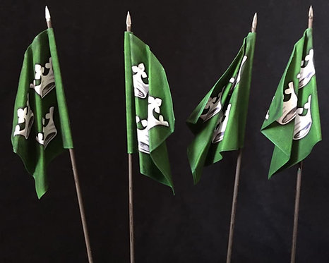 Thirty Years War - Swedish Green Regiment Flag 1