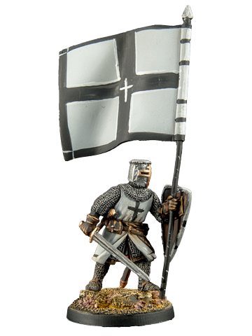 Crusader with Banner