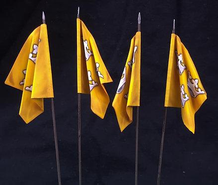 Thirty Years War - Swedish Yellow Regiment Flag 2