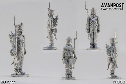 11.088-M Light Infantry Sergeant in Campaign Dress Standing