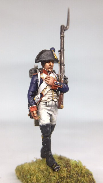 11.052-M Line Infantry Fusilier Marching in Bicorn