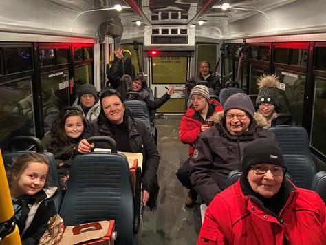 Promenade en Autono-Bus pour un merveilleux choco-déco.