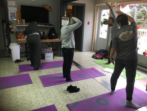 Notre session de Yoga avec Diane Chilton est maintenant terminé.  Un gros merci madame Diane.
