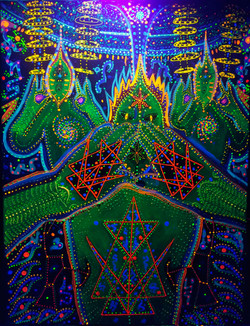 The Cosmic Antenna - Rigeludrian Blacklight ON 24x18