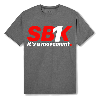 SB1K T-SHIRT (Red w/ White)