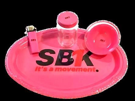 SB1K Pink Rolling Tray Set