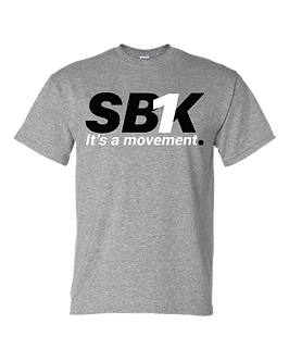 SB1K T-SHIRT (Black w/ White)