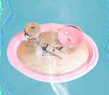 SB1K Pink Glitter Rolling Tray Set