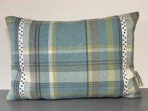 Paw Print - Tartan Cushion