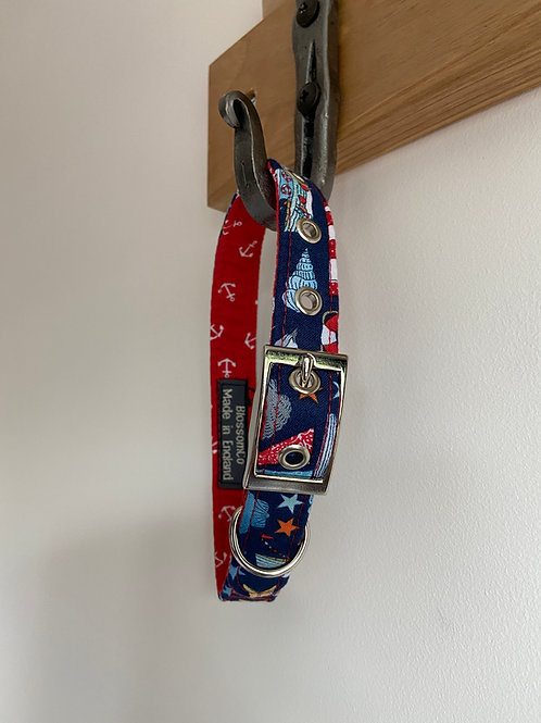 BlossomCo Lighthouse Collar at SkyeBubble handmade in England Perfect gift for dog lovers