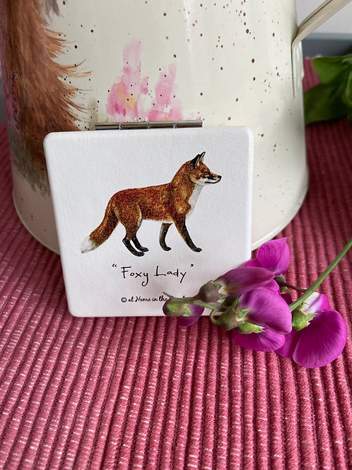 Foxy Lady Compact Mirror by At Home in the Country.