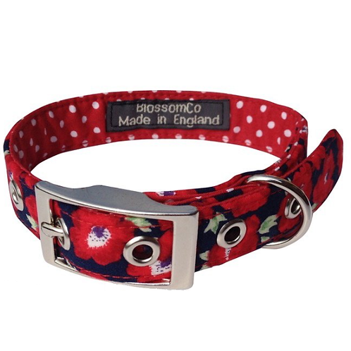 BlossomCo Dog Collar Elizabeth Handmade in England perfect gifts for dog lovers