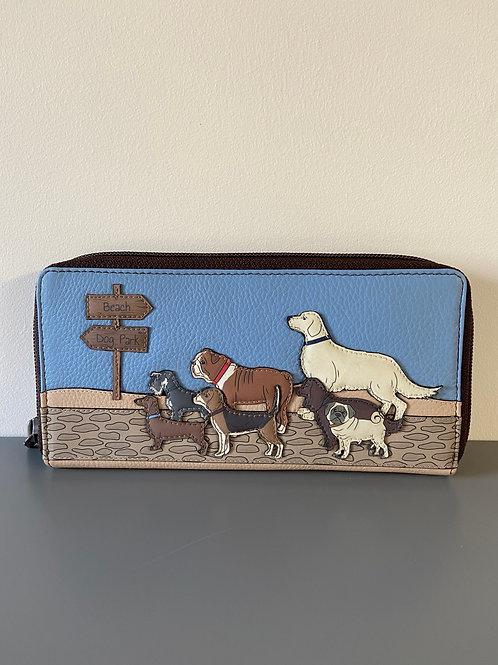 Yoshi Dog Walk Collection  Handmade Zip Top Leather Handmade Purse