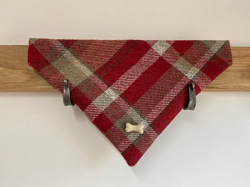 Dog Bandana - Skye Red Bone Trim