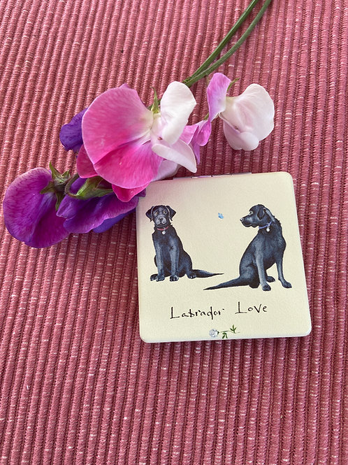Labrador Love -Compact Mirror by At Home in the Country.