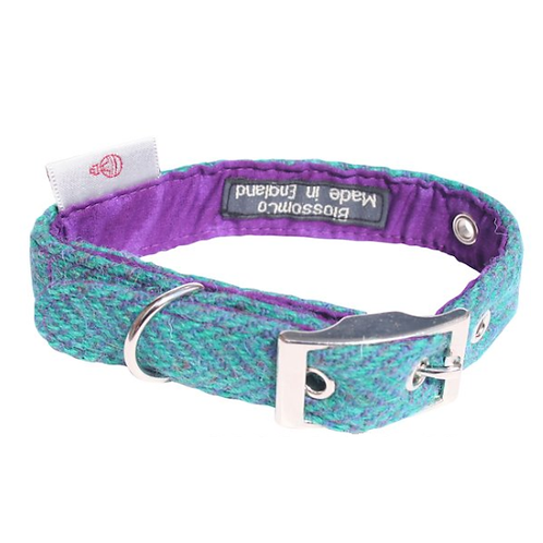 BlossomCo Harris Tweed Dog Collar - Scalpay stylish dog great gift