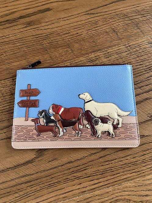 Yoshi Dog Walk Brooklyn Pouch Leather Handmade Great gift for Dog Lovers