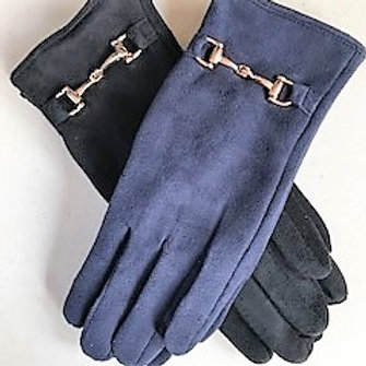 Ladies Fashion Suede Gloves