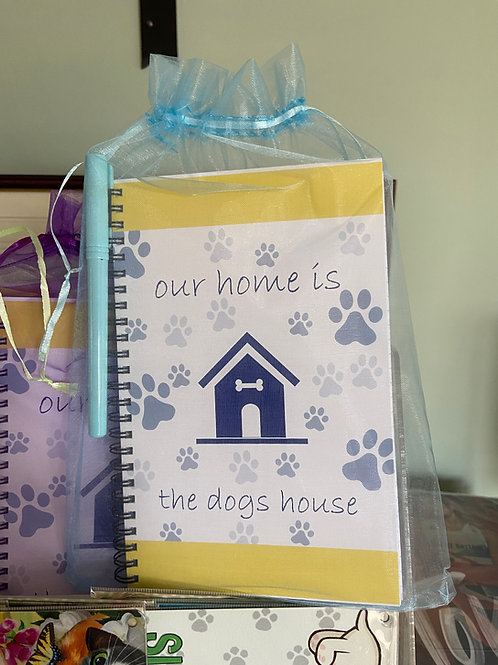 Our Home is the Dog's House A5 Ruled Notebook & Pen Set
