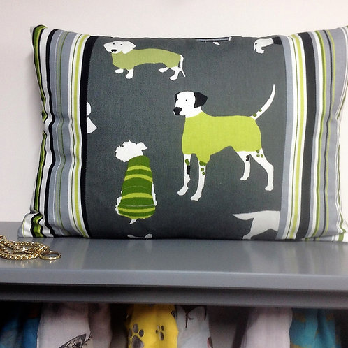 Cushion - Dog & Stripe
