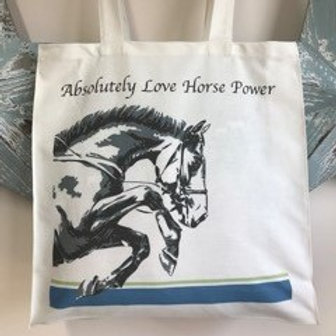 Tote Shopping Bag - Absolutely Love Horse Power
