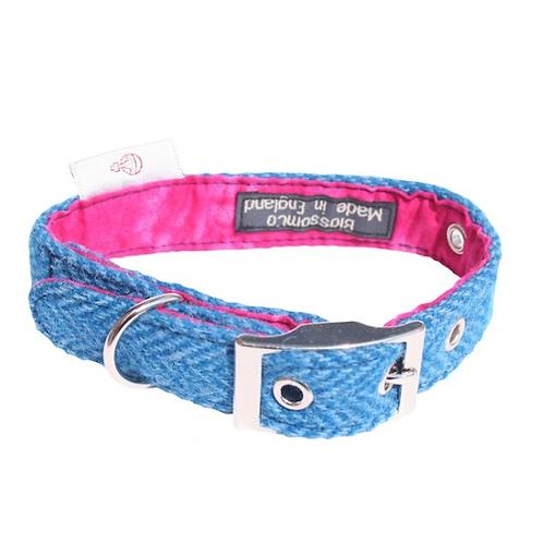 BlossomCo Harris Tweed Dog Collar -Berneray