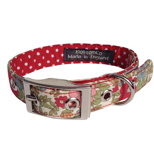 BlossomCo Dog Collar Alice Perfect gift for dog lovers handmade in England
