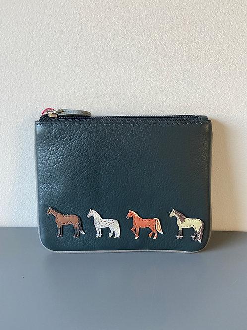 Mala Best Friends Horses Coin Purse Grey horsey gift