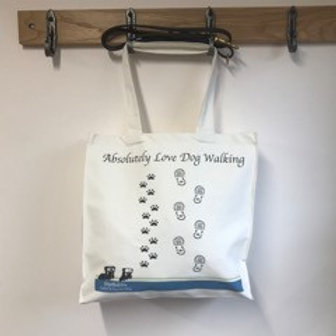 Tote Shopping Bag - Absolutely Love Dog Walking