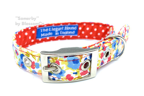Somerby Elegant Hound Dog Collar by BlossomCo made in England perfect gift for dog lovers
