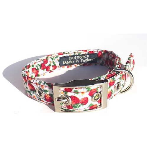 BlossomCo Dog Collar Wimbledon Handmade in England Perfect Dog Gift