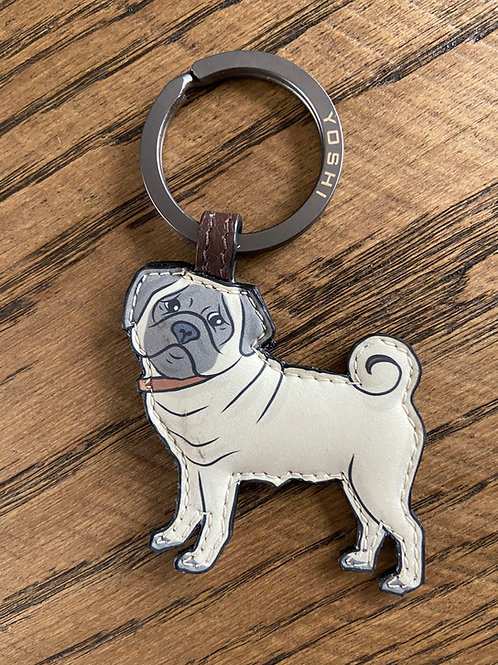 Yoshi Pug Puppy Key Ring Handmade great gift for dog lovers