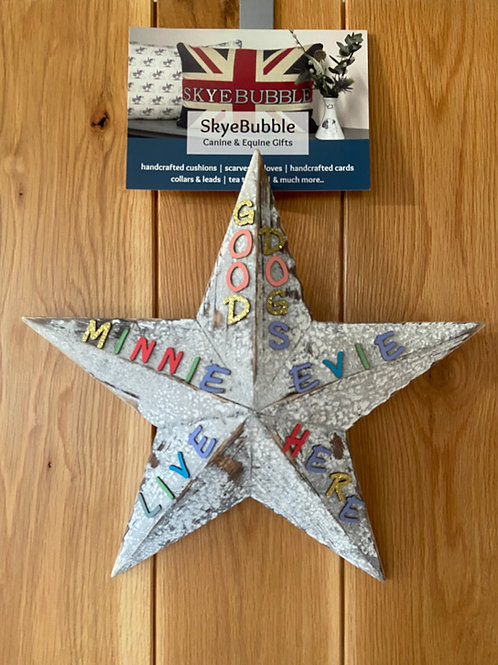 Personalised Wooden Shabby Chic Style Star