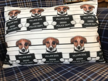 Jack Russell Villain Dog Cushion gift for dog lovers