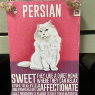 Cat Mini Metal Dangler Persian