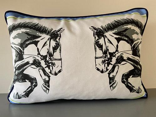Horse Power Eventing Equestrian Cushion