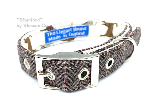BlossomCo Elegant Hound Collar Stamford design made in England Fashionable collar for dogs