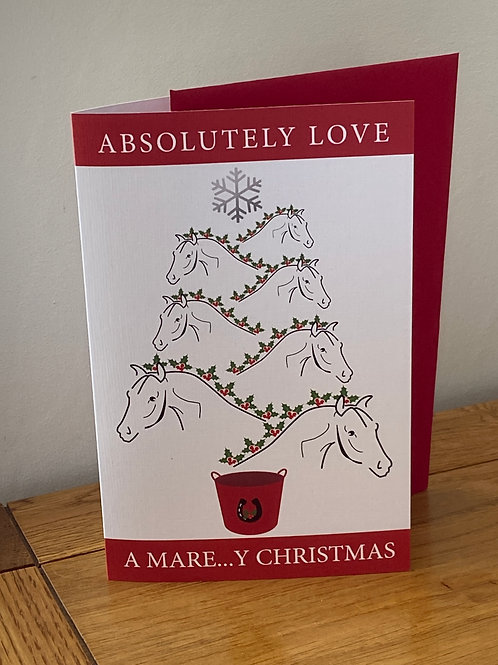 Christmas Card for Horse Lovers Absolutely Love a Mare...y Christmas