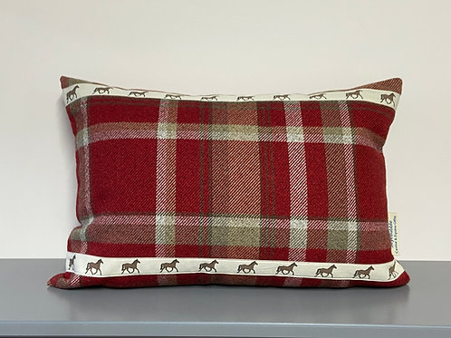 Trot On Equestrian Cushion by SkyeBubble a great gift for a horsey home