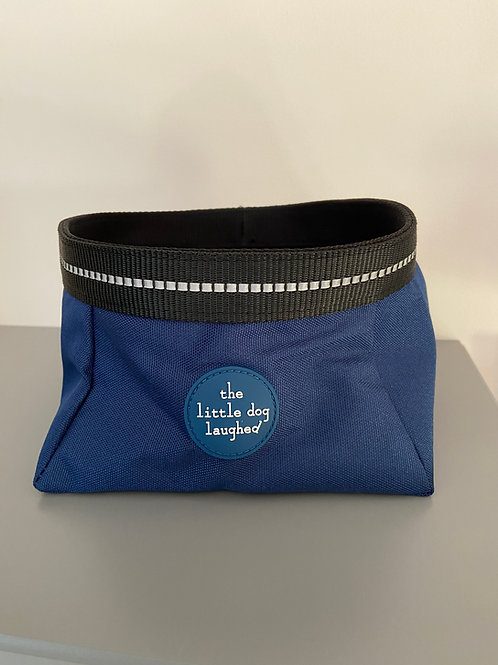 Pet Travel Bowl Navy -  by The Little Dog Laughed Co.