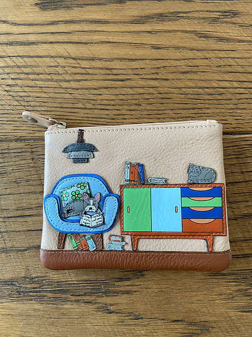 Lounging Beau Leather Dog Coin Purse by Mala