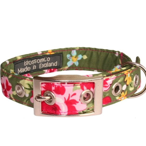 Olive Dog Collar by BlossomCo at SkyeBubble Perfect Gift for Dog Lovers