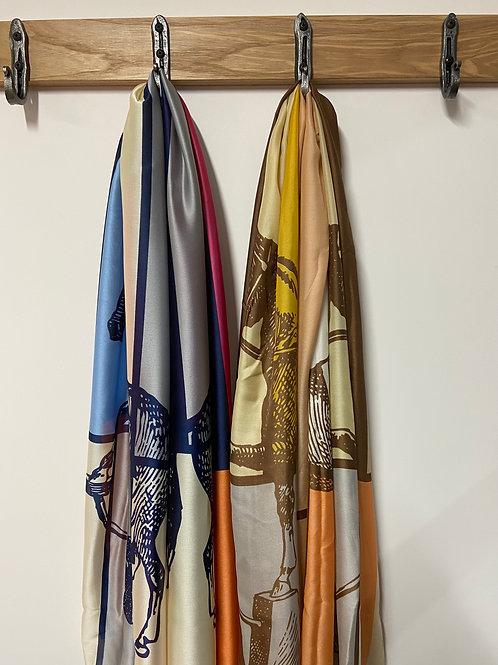 Equestrian Design Silk Wrap