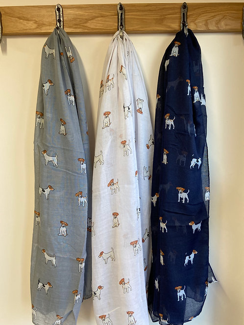 Jack Russell Dog Print Fashion Scarf