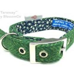 Taransay Harris Tweed Dog Collar BlossomCo at SkyeBubble