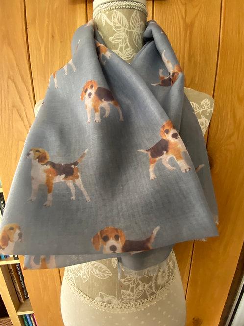 Beagle Dog Breed Print Fashion Scarf