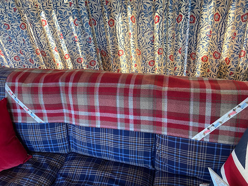 """Dachshunds & Spots"" Hand Crafted Skye Red Tartan Throw"