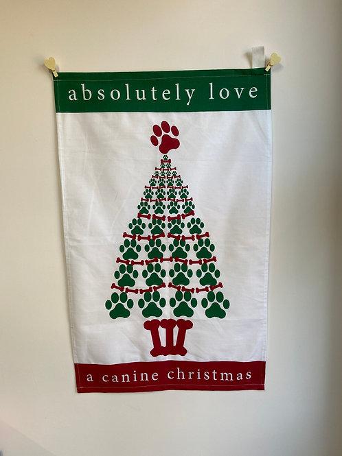 Tea Towel Canine Christmas fun & fashionable gift perfect Christmas gift for dog lovers
